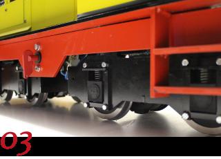 Componentes para locomotoras y vagones de 5 pulgadas