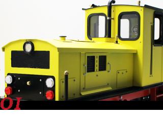 Locomotoras y vagones de 5 pulgadas